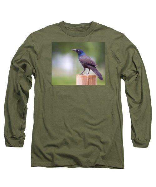 Blue Head Long Sleeve T-Shirt