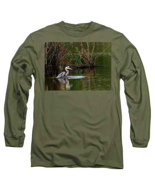 Blue Heron Pond Long Sleeve T-Shirt