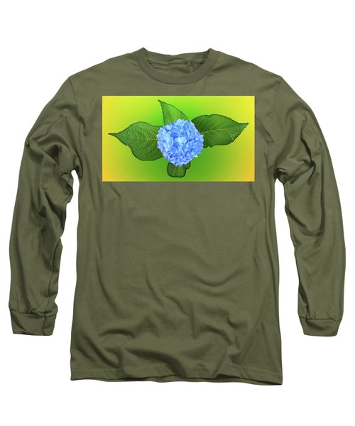 Blue Hydrangea Long Sleeve T-Shirt by Mike Breau