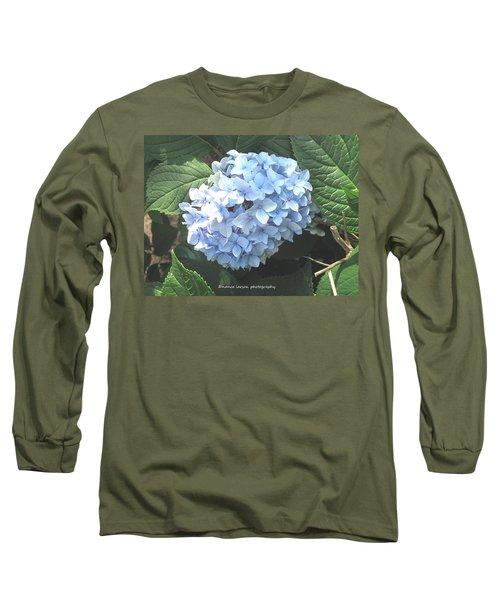 Blue Hydrangnea Long Sleeve T-Shirt by Nance Larson