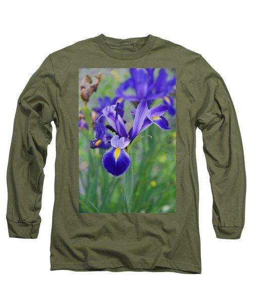 Blue Iris Flower Long Sleeve T-Shirt