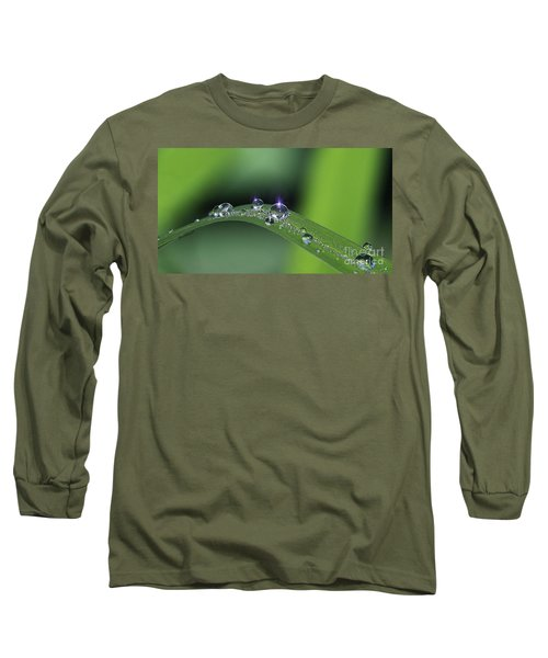 Blue Light On The Droplets Long Sleeve T-Shirt