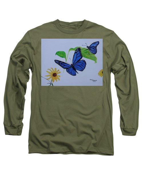 Blue Monarch Long Sleeve T-Shirt