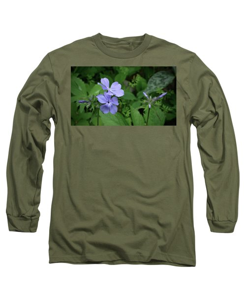 Blue Phlox Long Sleeve T-Shirt by Tim Good