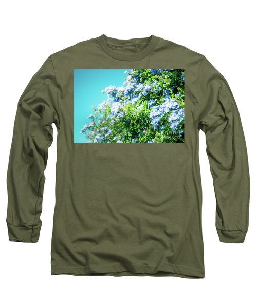 Blue Plumbago Maui Hawaii Long Sleeve T-Shirt by Sharon Mau