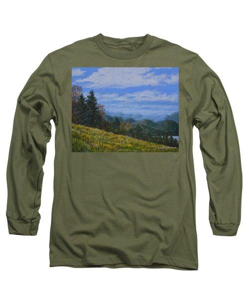 Blue Ridge Impression Long Sleeve T-Shirt by Kathleen McDermott
