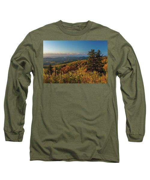 Blue Ridge Mountain Autumn Vista Long Sleeve T-Shirt