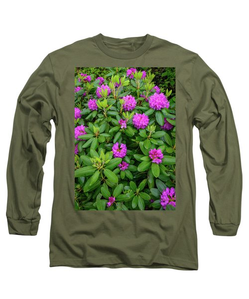 Blue Ridge Mountains Rhododendron Blooming Long Sleeve T-Shirt