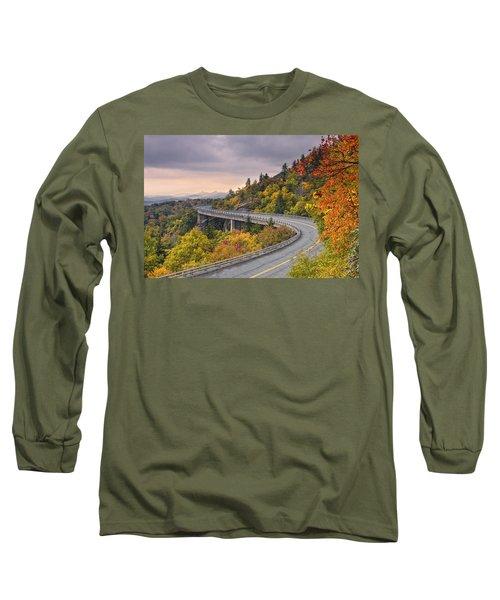 Lynn Cove Viaduct-blue Ridge Parkway  Long Sleeve T-Shirt