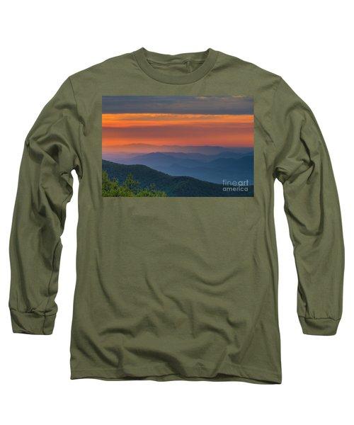 Blue Ridge Sunrise At Wintergreen  Long Sleeve T-Shirt