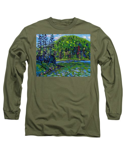Blue Sky Greens Long Sleeve T-Shirt