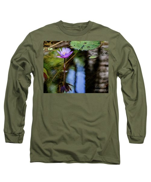 Blue Water Lily Long Sleeve T-Shirt