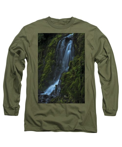 Blue Waterfall Long Sleeve T-Shirt