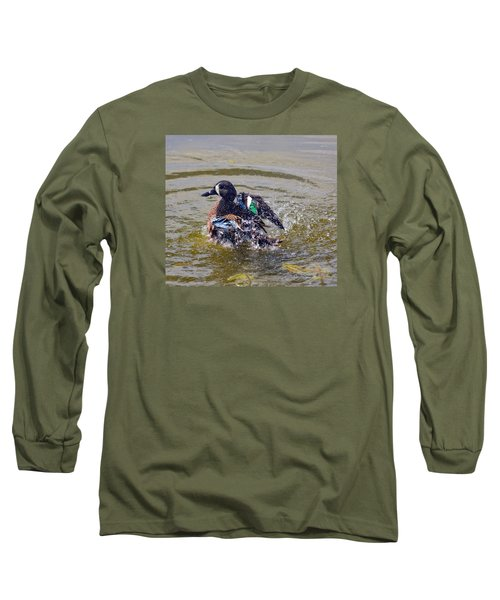 Blue Winged Teal 5 Long Sleeve T-Shirt