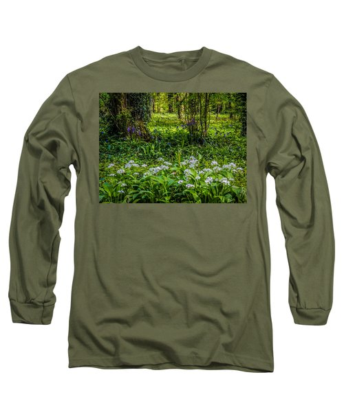 Bluebells And Wild Garlic At Coole Park Long Sleeve T-Shirt