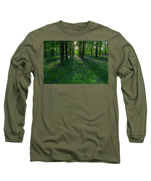 Bluebells In Oxey Woods Long Sleeve T-Shirt