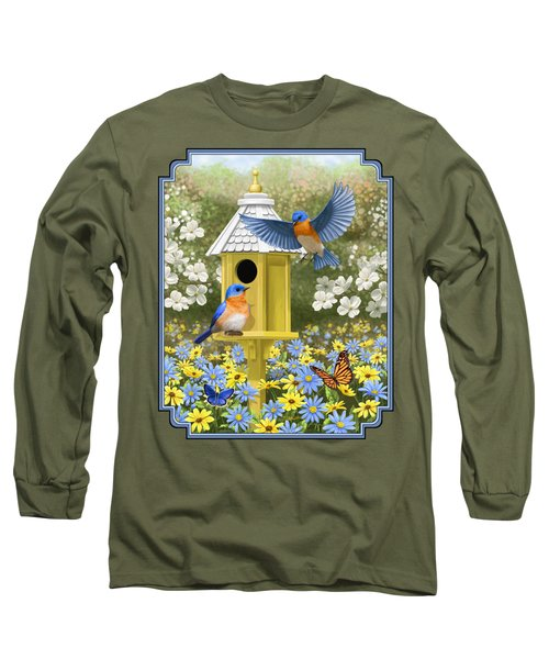 Bluebird Garden Home Long Sleeve T-Shirt