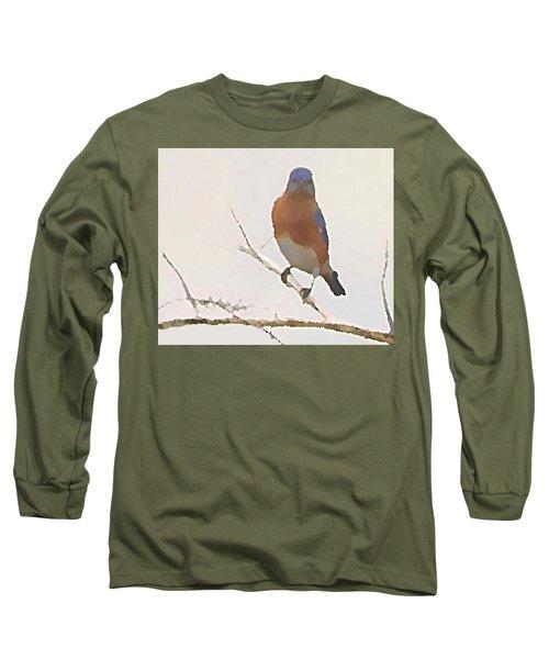 Bluebird Stare  Long Sleeve T-Shirt