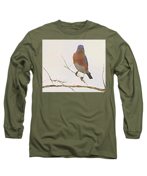 Bluebird Stare  Long Sleeve T-Shirt