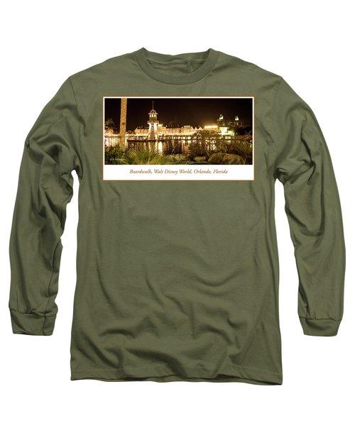 Boardwalk At Night, Walt Disney World Long Sleeve T-Shirt