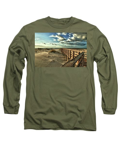 Boardwalk On The Beach Long Sleeve T-Shirt