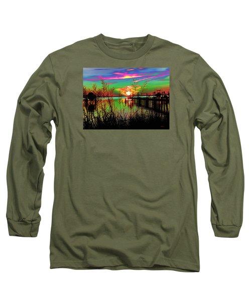 Boat Dock 3 Long Sleeve T-Shirt