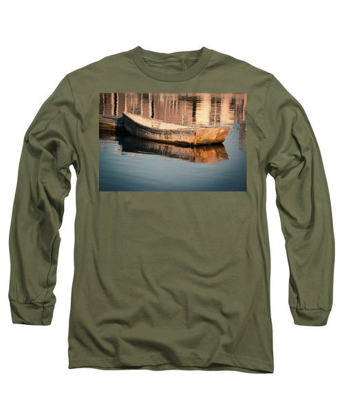 Boat In The Harbor Long Sleeve T-Shirt