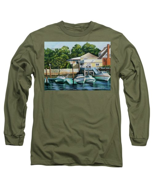 Boats On Crossbay Blvd. Long Sleeve T-Shirt