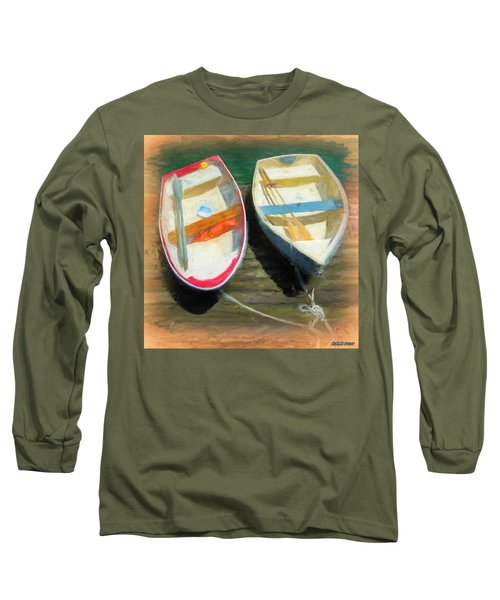 Boats Tied On The Landing Long Sleeve T-Shirt