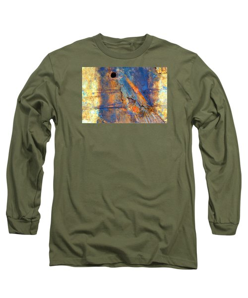 Long Sleeve T-Shirt featuring the photograph Boatyard Abstract1 by Newel Hunter