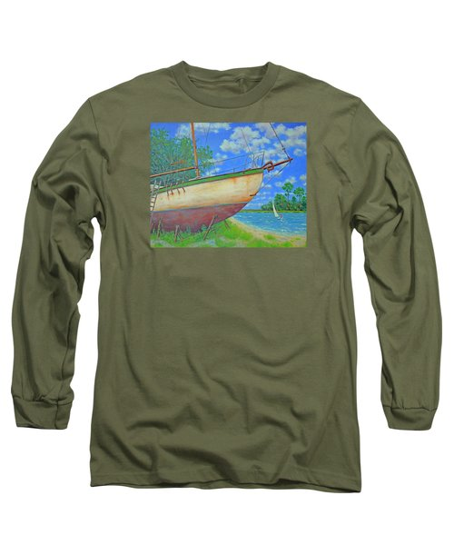 Boatyard On Shem Creek Long Sleeve T-Shirt