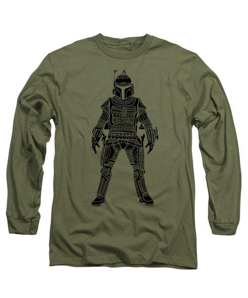 Boba Fett - Star Wars Art, Green Long Sleeve T-Shirt