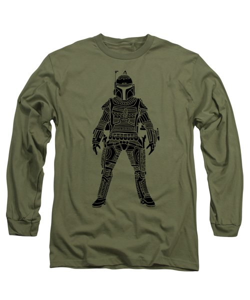 Boba Fett - Star Wars Art, Green Long Sleeve T-Shirt