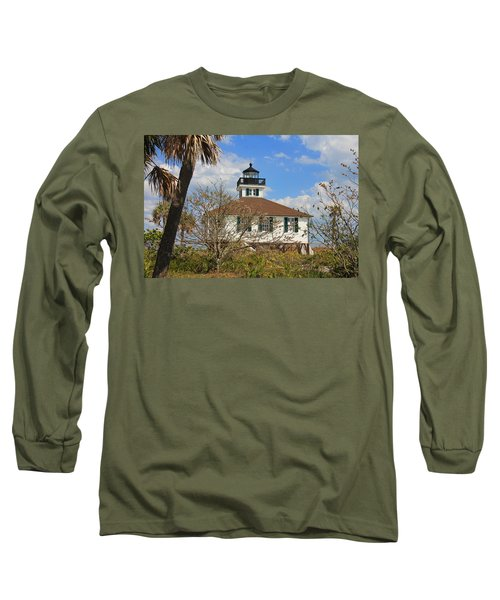 Long Sleeve T-Shirt featuring the photograph Boca Grande Lighthouse View Two by Rosalie Scanlon