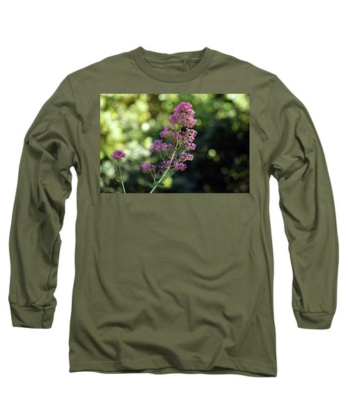 Bokeh Of Anacapri Flower Long Sleeve T-Shirt