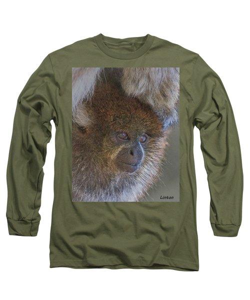 Bolivian Grey Titi Monkey Long Sleeve T-Shirt