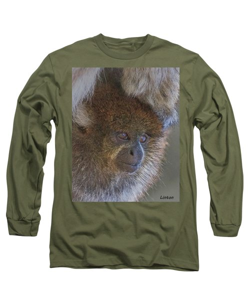 Bolivian Grey Titi Monkey Long Sleeve T-Shirt