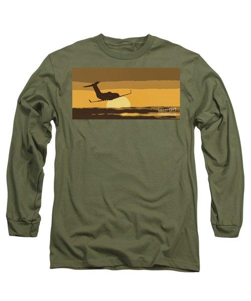 Bombardier Crj-200er Flying Sunset Long Sleeve T-Shirt