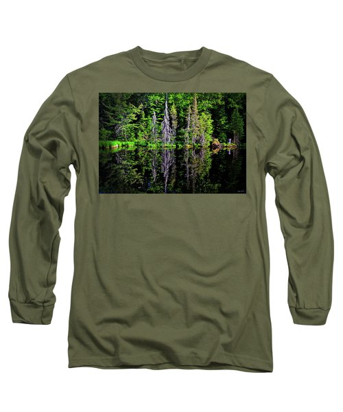 Long Sleeve T-Shirt featuring the photograph Bond Falls - Michigan 001 - Reflection by George Bostian