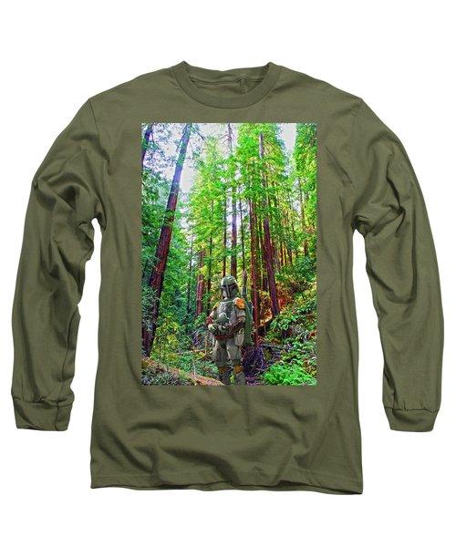 Boba Long Sleeve T-Shirt by Thomas M Pikolin