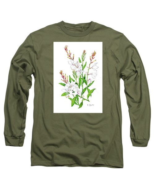 Botanical Illustration Floral Painting Long Sleeve T-Shirt