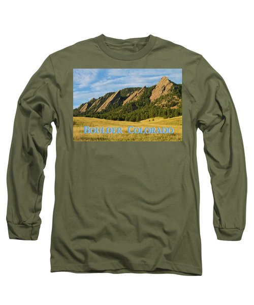 Long Sleeve T-Shirt featuring the photograph Boulder Colorado Poster 1 by James BO Insogna