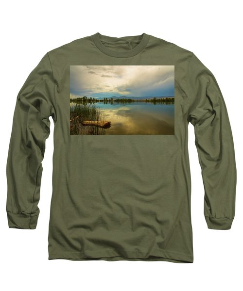 Long Sleeve T-Shirt featuring the photograph Boulder County Colorado Calm Before The Storm by James BO Insogna