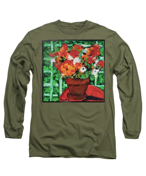 Long Sleeve T-Shirt featuring the painting Bouquet A Day Floral Painting Original 59.00 By Elaine Elliott by Elaine Elliott