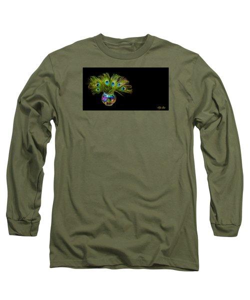 Bouquet Of Peacock Long Sleeve T-Shirt by Rikk Flohr