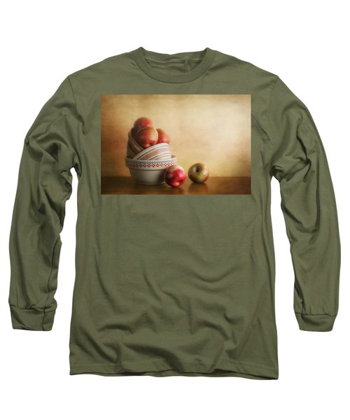 Bowls And Apples Still Life Long Sleeve T-Shirt