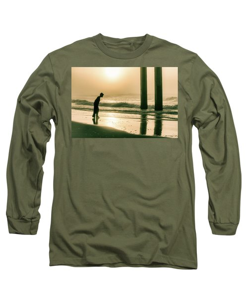 Long Sleeve T-Shirt featuring the photograph Boy At Sunrise In Alabama  by John McGraw
