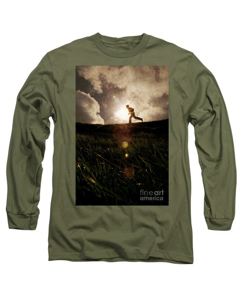 Boy Running Long Sleeve T-Shirt
