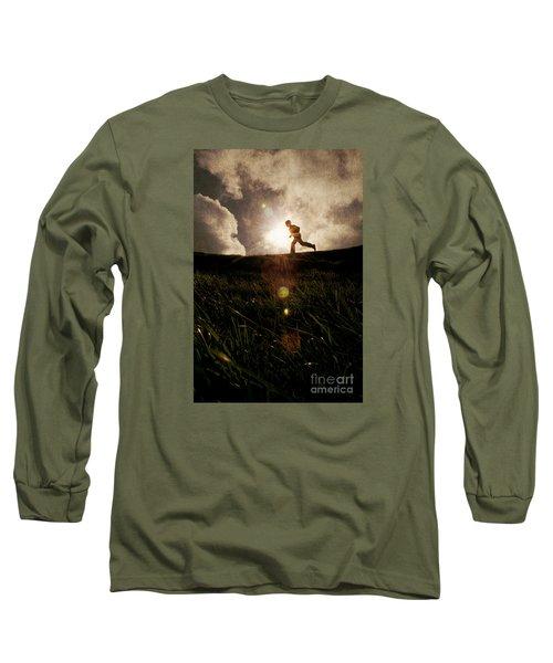 Boy Running Long Sleeve T-Shirt