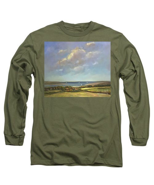 Brancaster Staithes, Norfolk Long Sleeve T-Shirt by Genevieve Brown